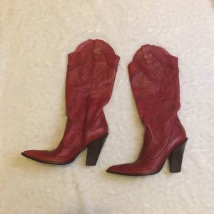 BCBGirls red boots women's size 6.5
